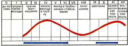 Таблица нанесения вреда и проведения химических обработок
